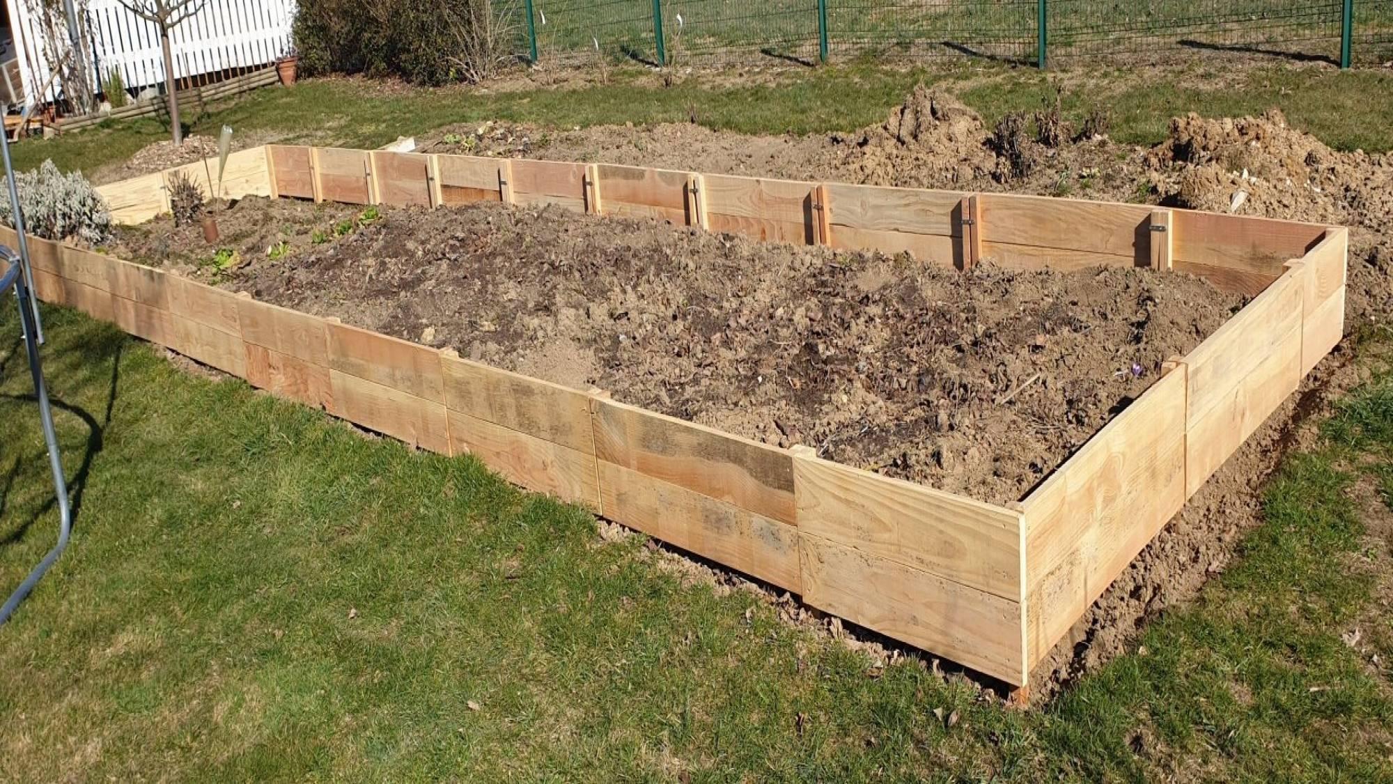 Bordures de jardin en douglas