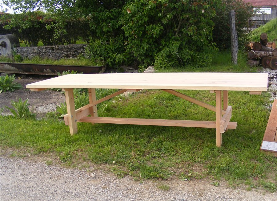 table de jardin sans banc